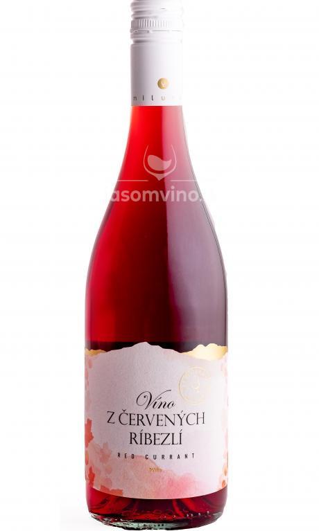 Víno z červených ríbezlí polosladké