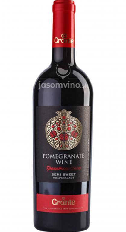 Polosladké víno GRANTE z granátového jablka Premium