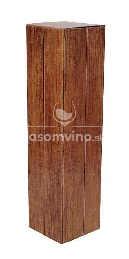 Darčeková kazeta na 1 fľašku vína imitácia drevo