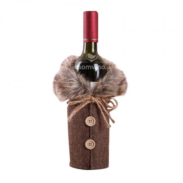 * Vianočná dekorácia na fľašu vína