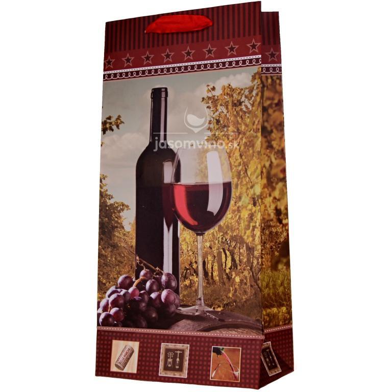 Papierová taška na víno širšia
