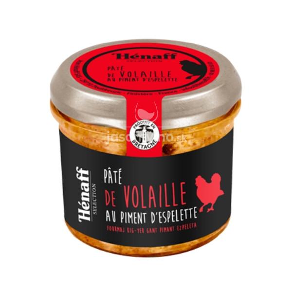 Hénaff Kuracia paštéta s Espelette papričkami, Francúzsko