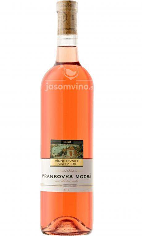 Frankovka Modrá Rosé  2019 suché