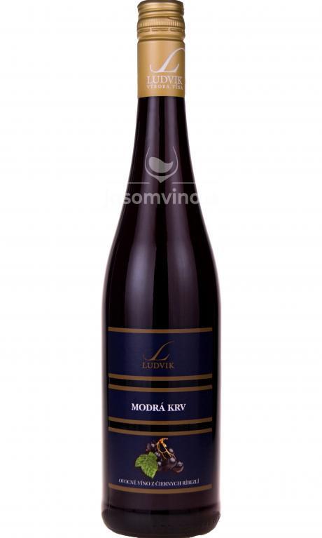 Víno z čiernych ríbezlí - Modrá krv sladké