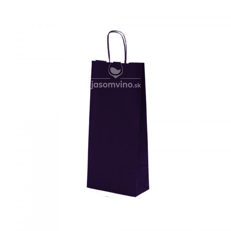 Papierová taška na víno - modrá