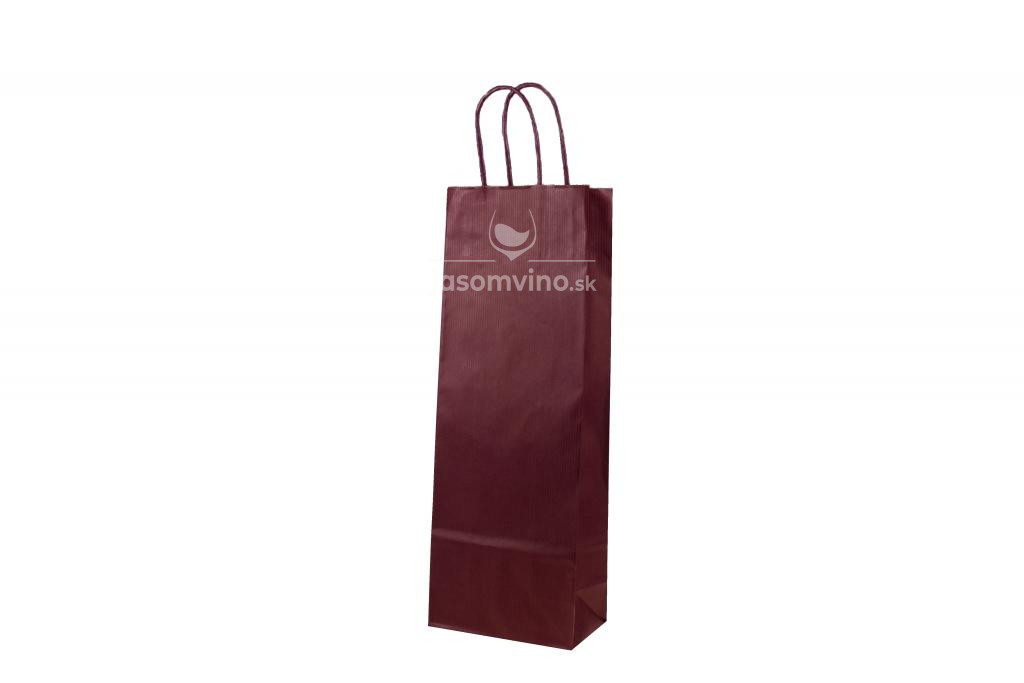 Papierová taška na víno - červená