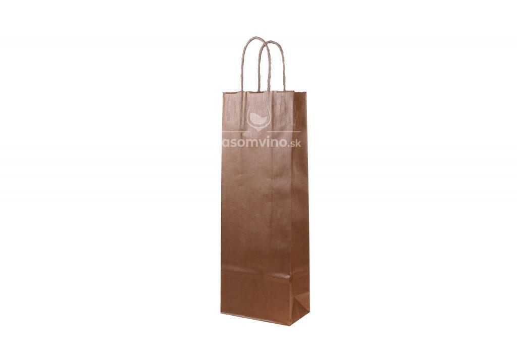 Papierová taška na víno - zlatá