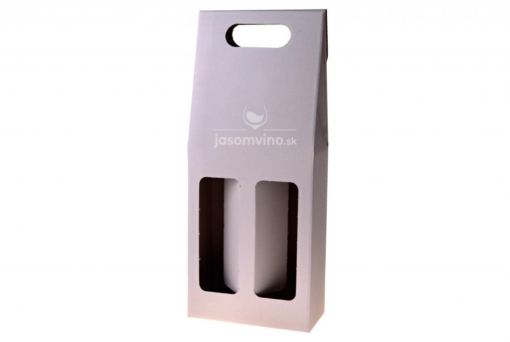 Darčekový kartónový obal na dve fľaše-biely