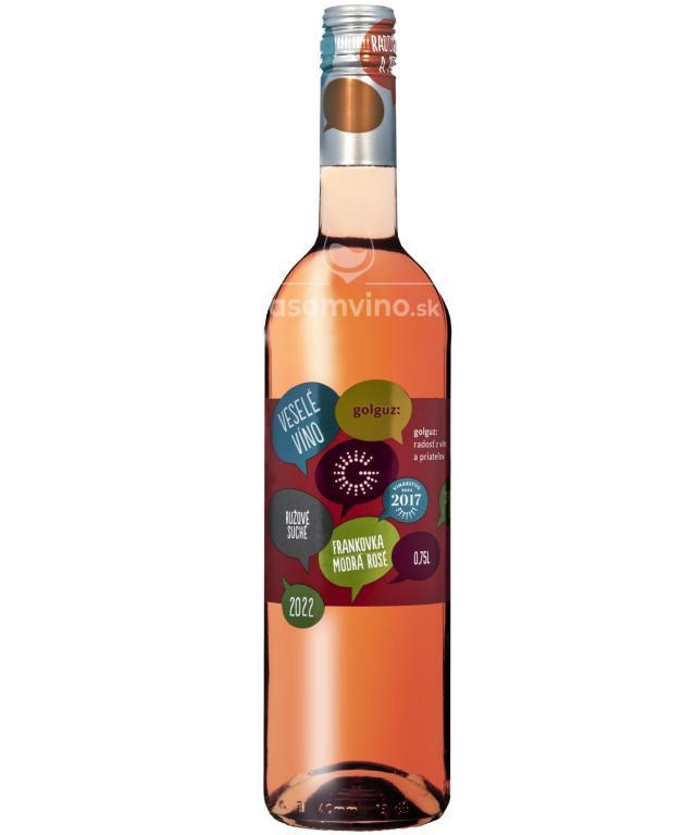 Frankovka Modrá rosé 2020 suché