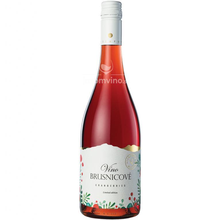Brusnicové víno polosladké
