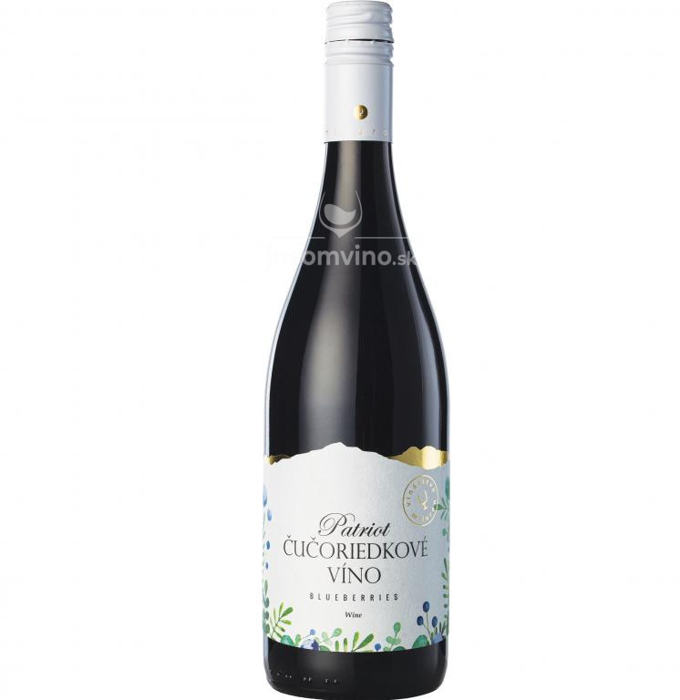 PATRIOT - Čučoriedkové víno polosladké
