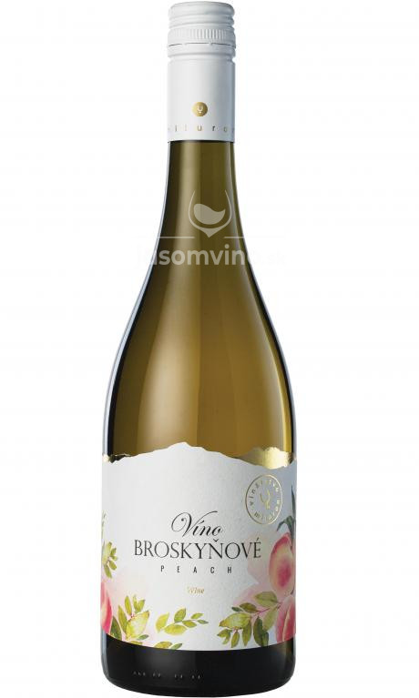 Broskyňové víno polosladké