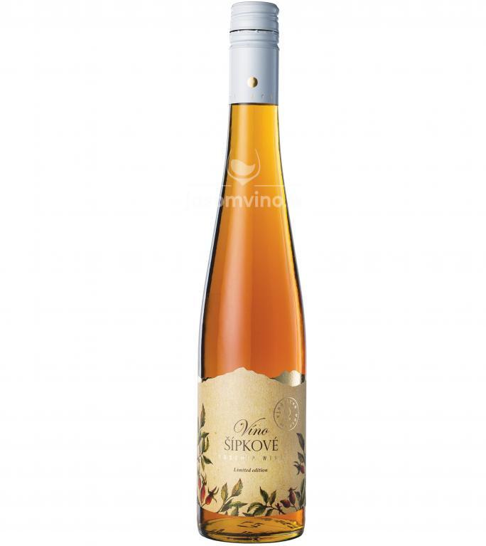 Šípkové víno rosé polosladké