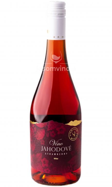 Jahodové víno ružové polosladké