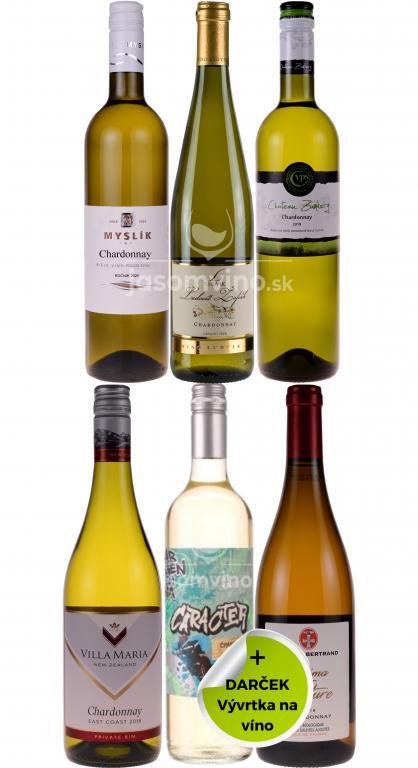 Set vín Chardonnay + darček
