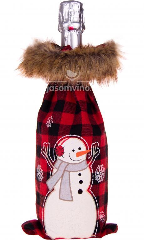 * Vianočný obal na víno Snehuliak