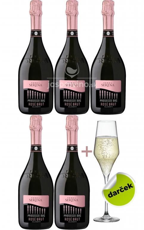 Ružové Prosecco + pohár RONA zadarmo