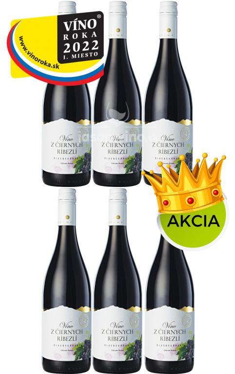 *Jarná AKCIA Miluron 5+1 víno z čiernych ríbezlí