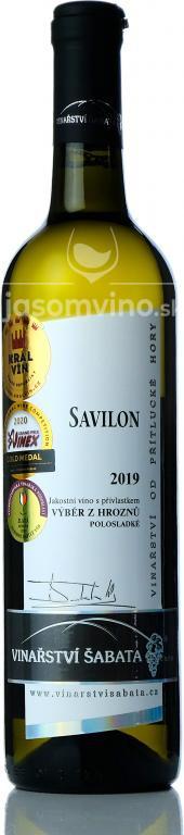 Savilon 2019 výber z hrozna polosladké