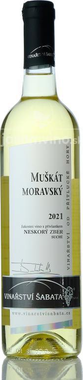 Muškát moravský 2020 kabinetné suché